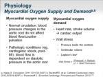 physiology myocardial oxygen supply and demand a b