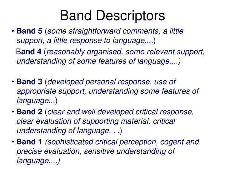 Band descriptors