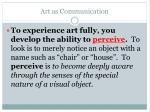 art as communication1