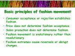 basic principles of fashion movement