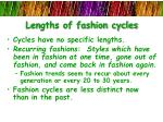 lengths of fashion cycles