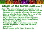 stages of the fashion cycle cont1