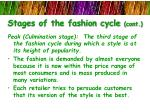 stages of the fashion cycle cont2