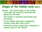 stages of the fashion cycle cont3