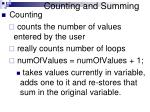 counting and summing