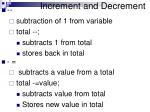 increment and decrement2