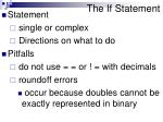 the if statement2