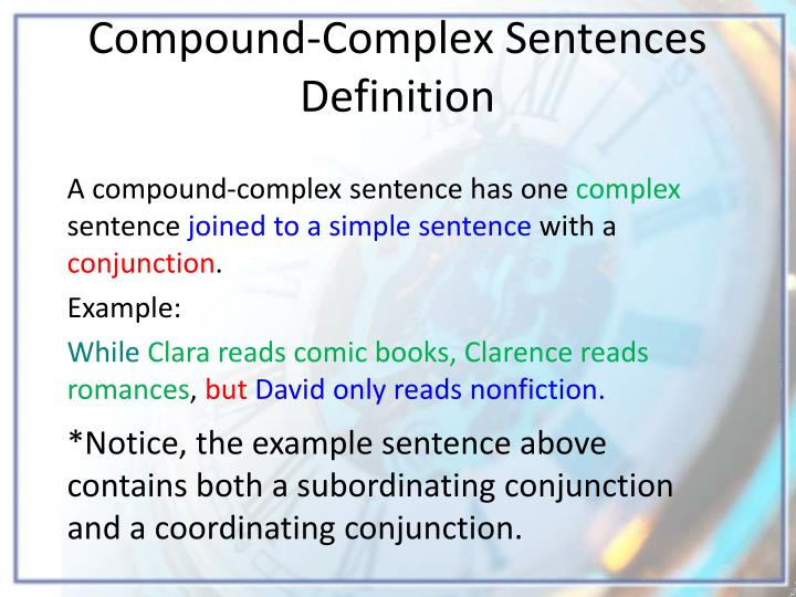 ppt the compound complex sentence powerpoint presentation id 6854658