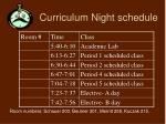 curriculum night schedule1