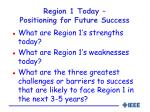 region 1 today positioning for future success
