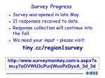survey progress