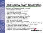 868 narrow band transmitters