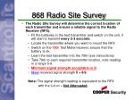 868 radio site survey