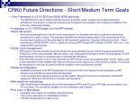 crkit future directions short medium term goals