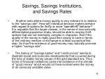 savings savings institutions and savings rates
