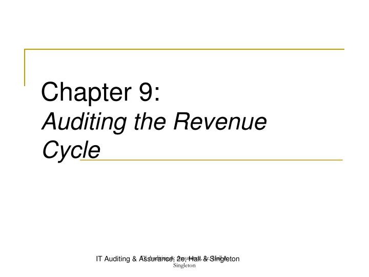 chapter 9 auditing the revenue cycle n.