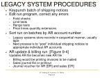 legacy system procedures
