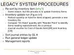 legacy system procedures1