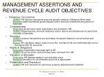 management assertions and revenue cycle audit objectives