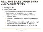 real time sales order entry and cash receipts