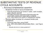 substantive tests of revenue cycle accounts2