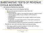 substantive tests of revenue cycle accounts3