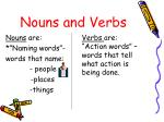 nouns and verbs1