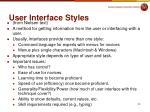 user interface styles