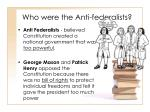 who were the anti federalists