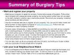 summary of burglary tips1