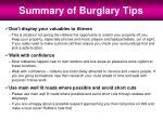 summary of burglary tips2