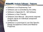 midaswl analysis software features