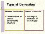types of distractions