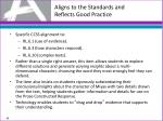 aligns to the standards and reflects good practice7