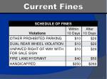 current fines