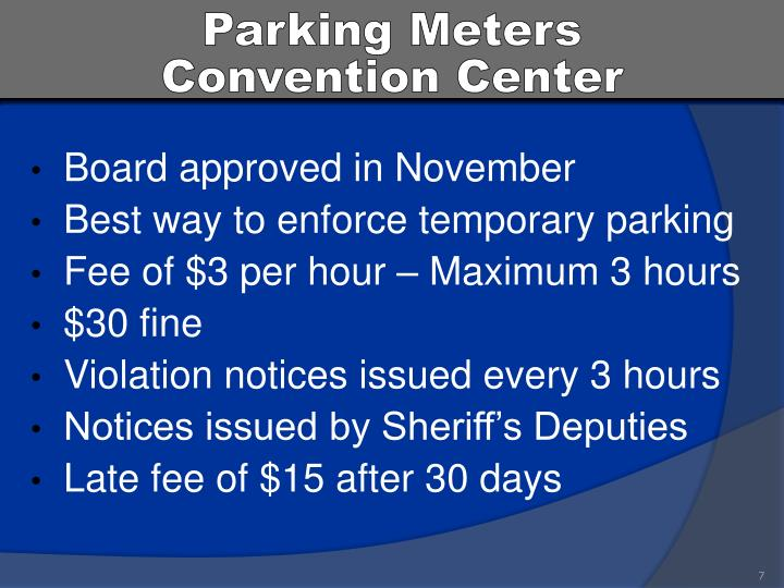 Parking Meters           Convention Center