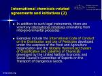 international chemicals related agreements and initiatives 2