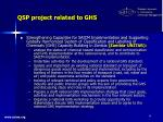 qsp project related to ghs