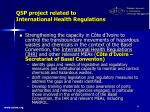 qsp project related to international health regulations