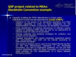 qsp project related to meas stockholm convention example