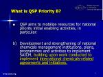 what is qsp priority b