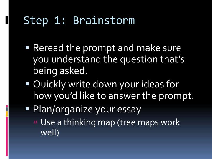 Step 1 brainstorm