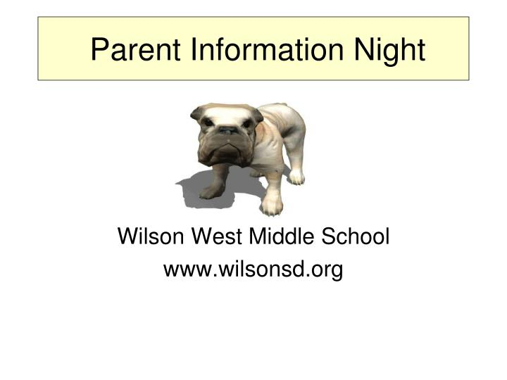 parent information night n.