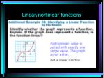 linear nonlinear functions10