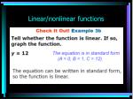 linear nonlinear functions30