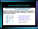 linear nonlinear functions9