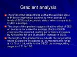 gradient analysis