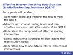 effective intervention using data from the qualitative reading inventory qri 52