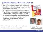 qualitative reading inventory qri 5