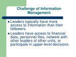 challenge of information management